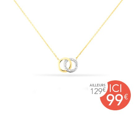 COLLIER OR ET DIAMANT